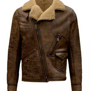 $70 off Sale - Aquaman Arthur Curry Brown Leather Fur Jacket