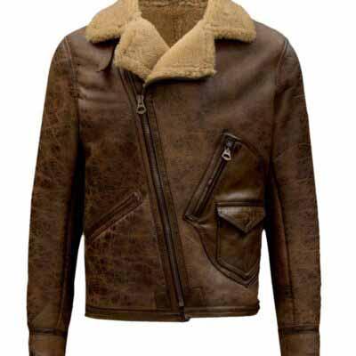 $70 off Sale - Aquaman Arthur Curry Brown Leather Fur Jacket