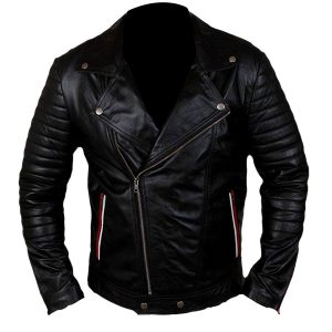 $40 Off - Blue Valentine Ryan Gosling Black Leather Jacket