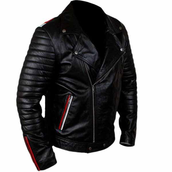 Buy Blue Valentine Ryan Gosling Black Real Leather Jacket at $40 Off