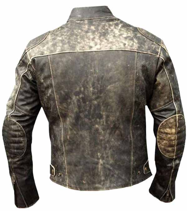 $50 Off on Men's Cafe Racer Vintage Real Leather Jacket
