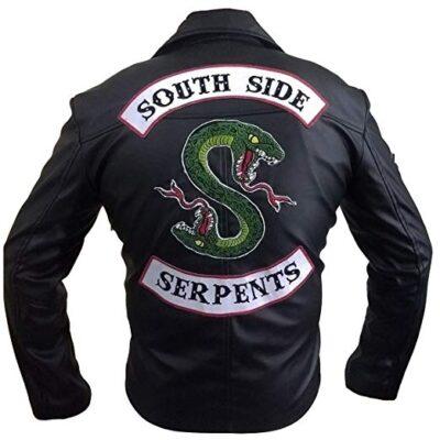 Buy Men Riverdale Southside Serpents Black Motorcycle Jacket at 50% off Sale