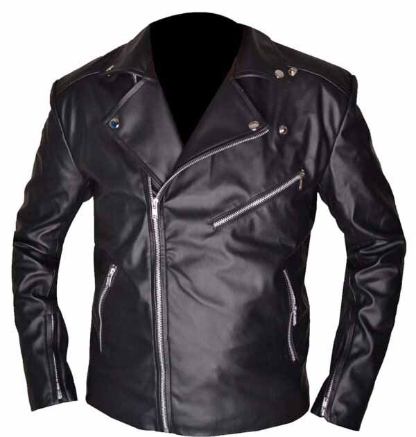 Riverdale Southside Serpents Black Leather Biker Jacket at 50% off Sale