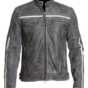 Buy Affliction Cafe Racer Retro Moto Vintage Distressed Leather Jacket