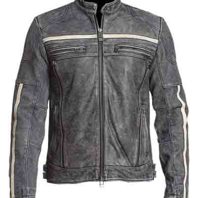 Buy Affliction Cafe Racer Retro Moto Vintage Distressed Leather Jacket