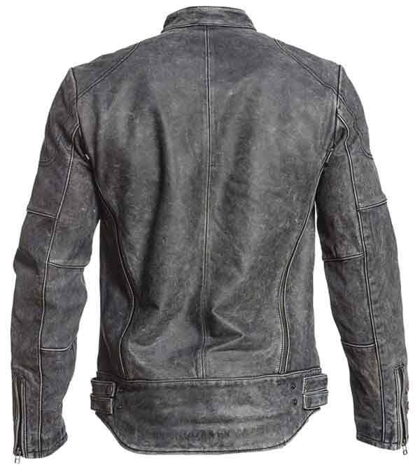 Sale on Affliction Cafe Racer Vintage Distressed Grey Leather Biker Jacket