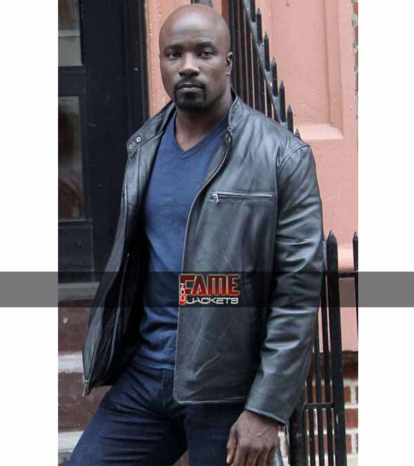 $30 off on Gents Mike Colter Black Real Leather Jacket
