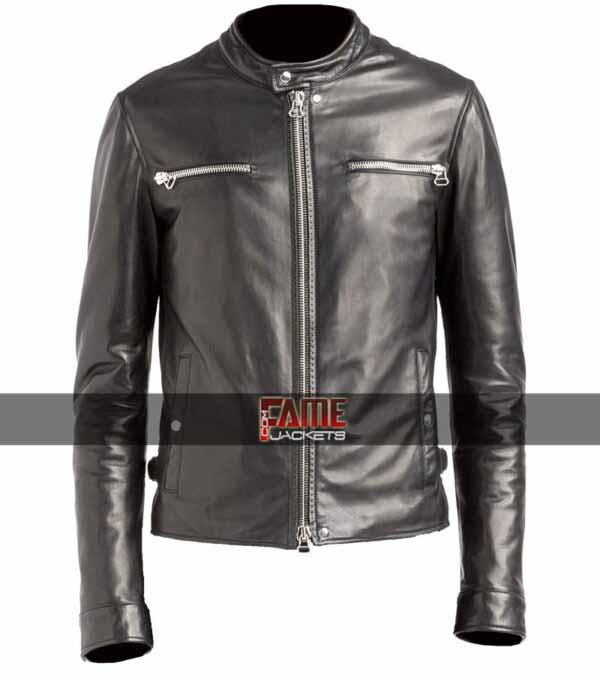 Gents Mike Colter Slim Fit Faux Leather Jacket