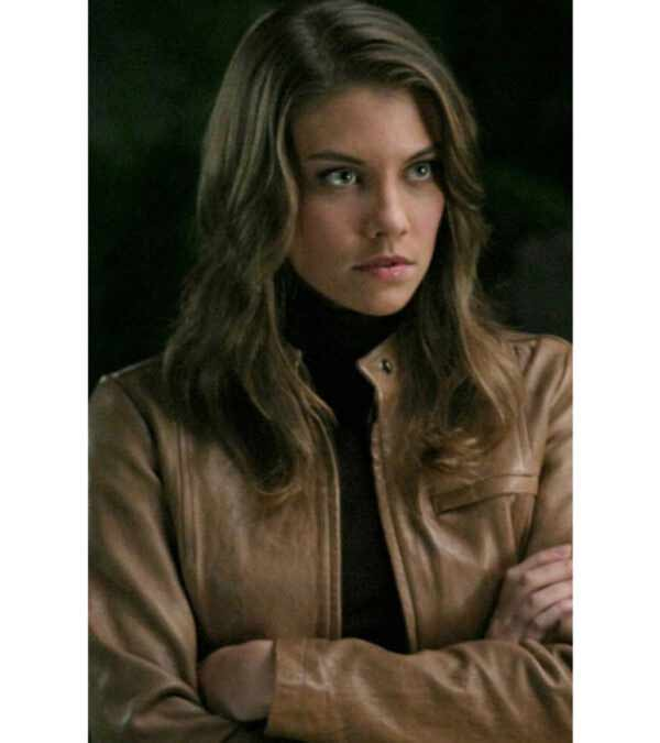 Abby Supernatural Bela Talbot Brown Real Leather Jacket