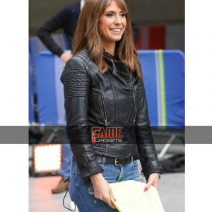 $50 Off on Alex Jones Women Real Leather Biker Jacket