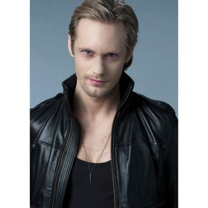Alexander Skarsgard true Blood Black Real Leather Jacket