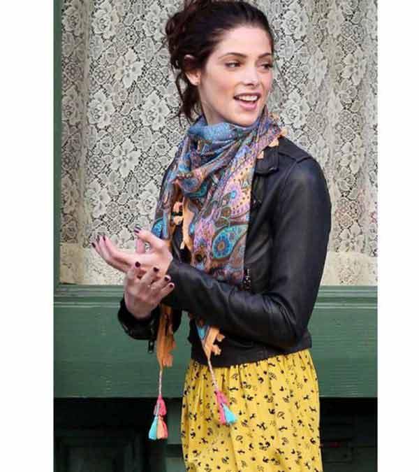 American TV Alice Garano Black Biker Leather Jacket