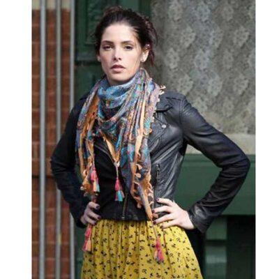 American TV Alice Garano Black Leather Jacket