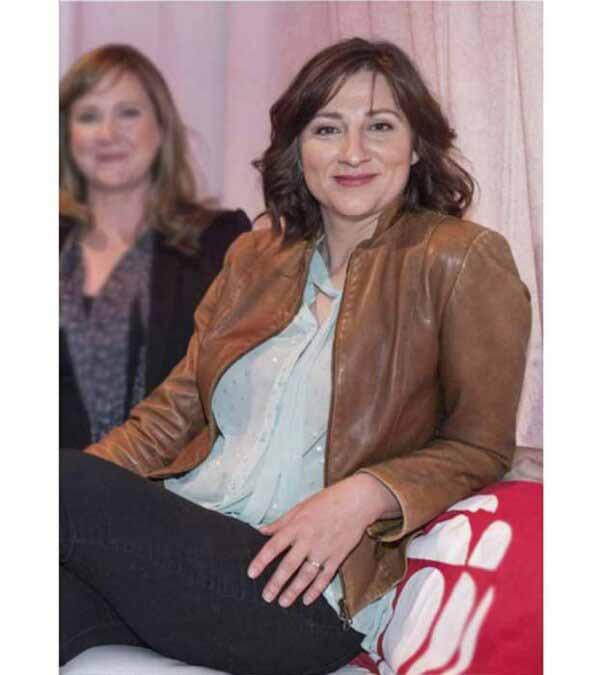 Aurora Browne Baroness Women Brown Leather Jacket