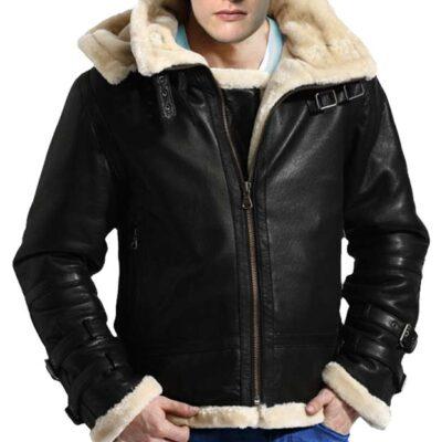 Sale on WW2 Bomber Sheepskin Fur Flight Leather Jacket