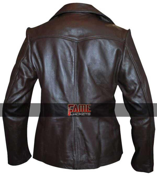 Bedtime Stories Jill Keri Brown Real Brown Leather Jacket