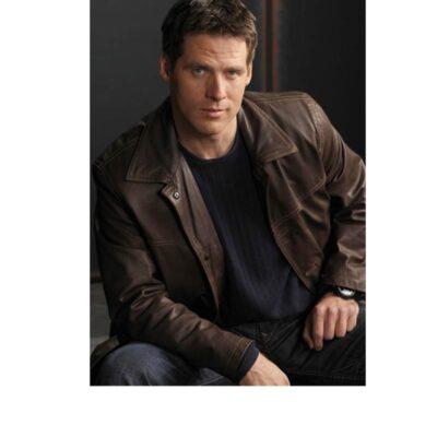 Ben Browder Stargate SG1 Real Brown Leather Coat