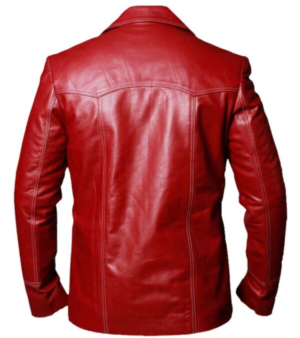 Buy Brad Pitt Fight Club Tyler Durden Red Leather Coat