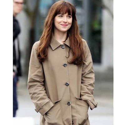 Fifty Shades Dakota Johnson Coat at Sale