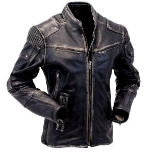 $61 Off on Men's Vintage Biker Style Cafe Racer Real Leather Jacket