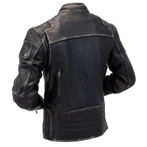 Buy Men's Cafe Racer Black Genuine Leather Jacket