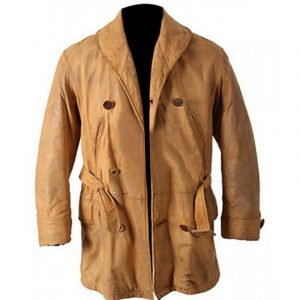 $30 Off Legends Of the Fall Brad Pitt Brown Real Leather Trench Coat