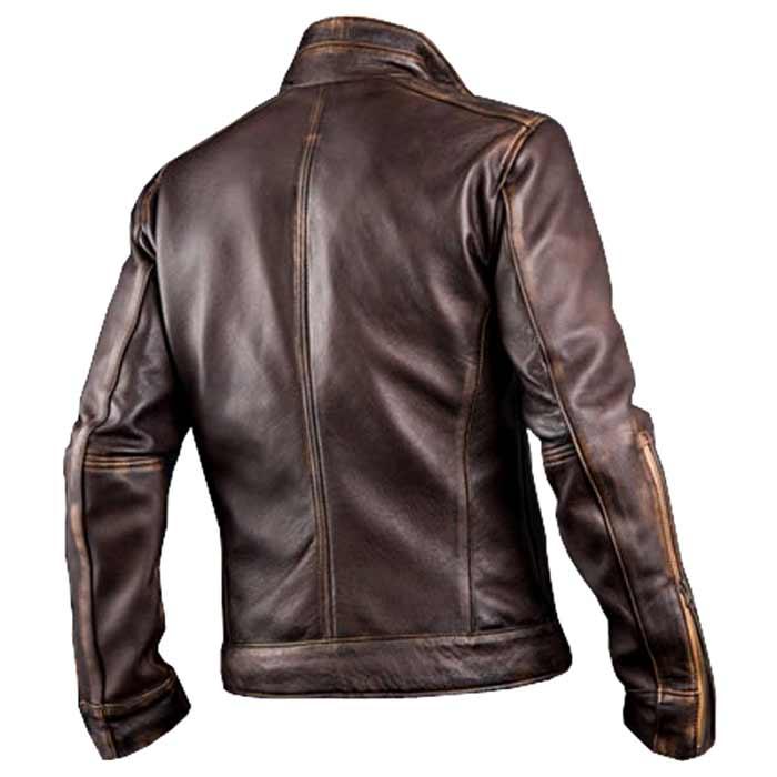 Leather Shop Cafe Racer Biker Distressed Brown Leather Jacket Men Plus Size Brown Leather Jacket