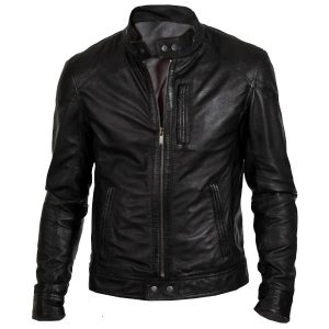 $50 off Sale – Gents Biker Hunt Genuine Black Lather Biker Jacket