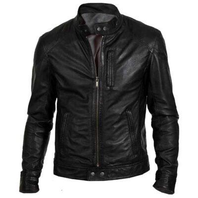 $50 off Sale – Gents Biker Hunt Genuine Black Lather Biker Jacket