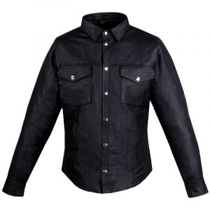 Gents Motorcycle Poly Liner Black Leather Jacket Sale