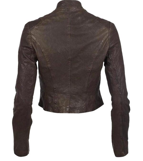 Ladies Faux Leather Biker Vanessa Marano Jacket
