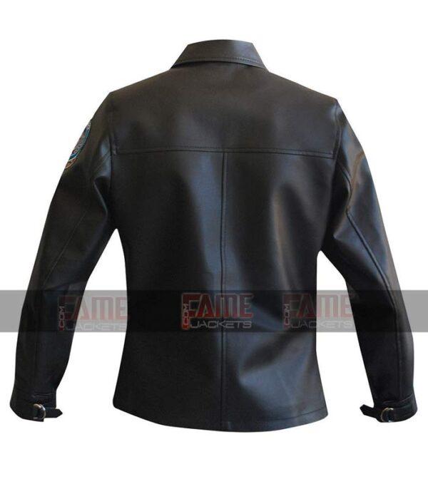 Get Top Gun Kelly Mc Gillis Charlie Women Bomber Real Black Pilot Aviator Leather Jacket Online