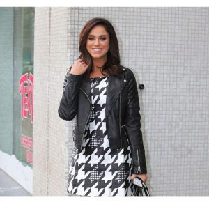 Vicky Pattison Black Leather Biker Jacket
