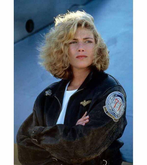 Buy Top Gun Kelly Mc Gillis Charlie Real Black Pilot Aviator Leather Jacket at 50% Off