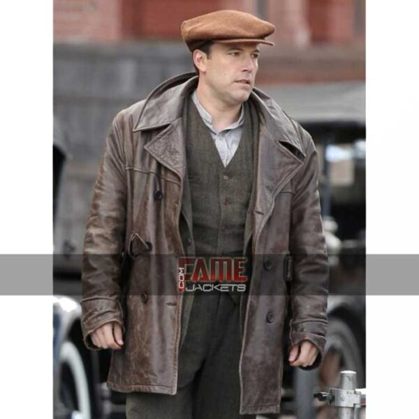 Ben Affleck Brown Leather Winter Coat at $70 Off