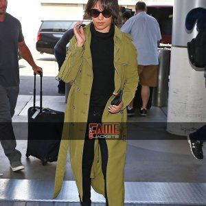 Camila Cabello Green Trench Coat