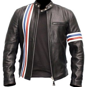 $40 off Sale - Captain America Vintage Easy Rider Black Leather Jacket