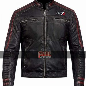 Men's Commander Shepard Real Leather Jacket