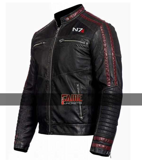 Men's Mass Effect N7 Biker Leather Jacket