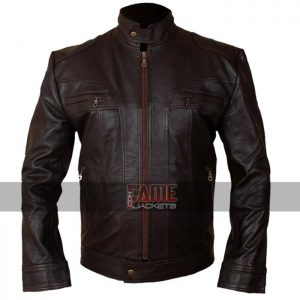 Buy Men's Brown Leather Jacket at $50 off Sale