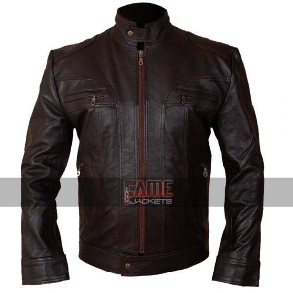 Buy Men's Brown Leather Jacket at $50 off Sale