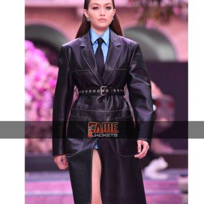 Gigi Hadid genuine leather