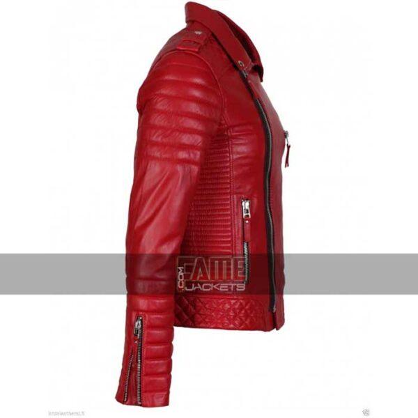mens slim fit biker real leather jacket