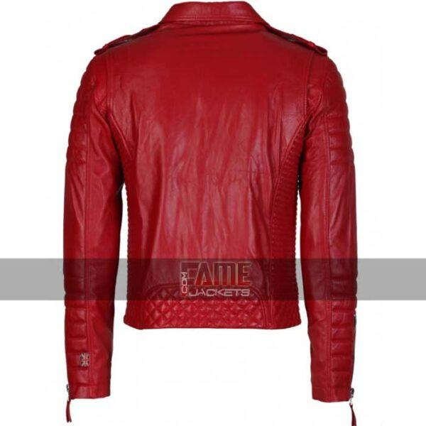 mens slim fit vintage biker real leather jacket