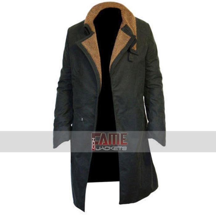 Blade Runner Officer K Ryan Gosling 2049 Long Trench Cotton Mens Coat Jacket