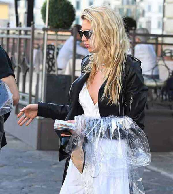 Stella Maxwell Black Slim Fit Leather Jacket