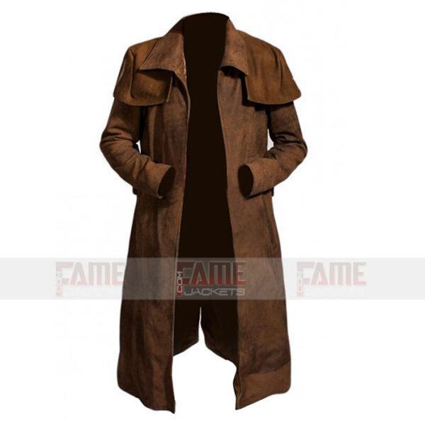Buy Men's Brown Suede Coat at $70 Off Sale