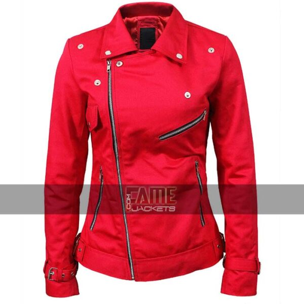 Buy Women's Red Riverdale Cotton Jacket at $99
