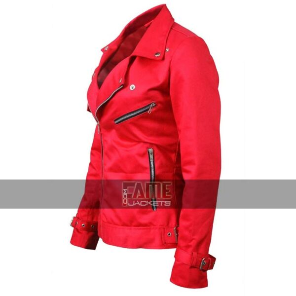 Buy Women's Red Faux Leather Riverdale Jacket at $99