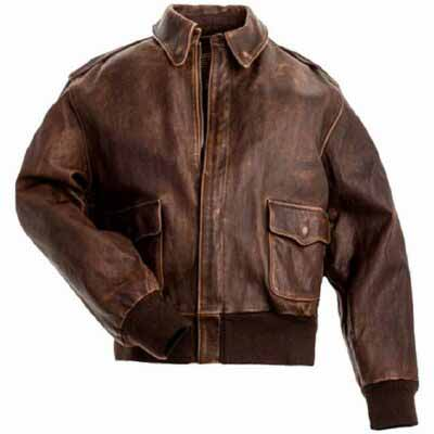 Buy A-2 Flight Distressed Brown Leather Jacket